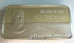 10+ oz Sterling Silver Franklin Mint Presidential Ingot Bar William Taft