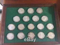 100 Greatest MasterPieces Set (214 Troy Oz.) Proof Sterling Silver Coin Set