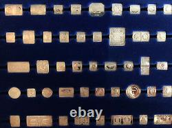 100 Greatest Stamps of the World Franklin Mint Sterling Miniature Collection