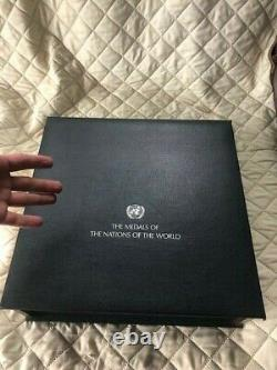 101 Sterling Silver Proof Medals of the Nations of the World case United Nations