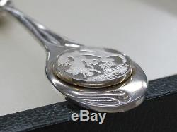 12 Days of Christmas Sterling Silver Spoon Set Franklin Mint 357.8G