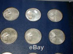 (12) Franklin Mint MEDALS Large Sterling SILVER Nice Toned PRESIDENTS pg3
