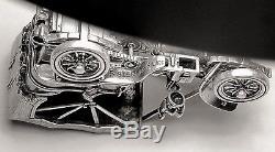 1903 Fiat Franklin Mint Sterling Silver Car Miniature