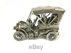1903 Fiat Sterling Silver Miniature Car Franklin Mint 143 Scale 171 Grams WithBox
