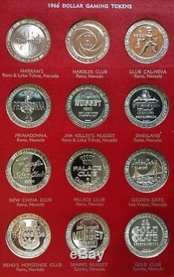 1966 Franklin Mint Sterling Silver Dollar Gaming Tokens, 72 Total