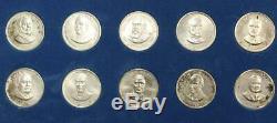 1968 Franklin Mint Presidential Commemorative 35 Medal set. 925 Sterling Silver
