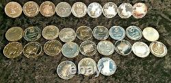 1969-70 Franklin Mint Sterling Silver States of the Union Medals (30 of 50)