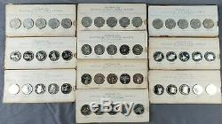 1969 Franklin Mint STATES OF THE UNION Sterling Silver Coin Proof Set Complete
