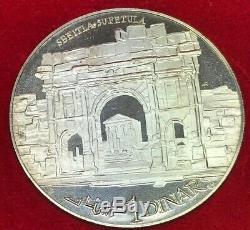 1969 Republique Tunisienne 1 Dinar 10 Coin Sterling Silver Set Franklin Mint OMP