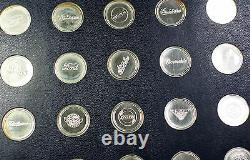 1969 The Franklin Mint Collection of Antique Car Coins Series 1 Sterling Proof
