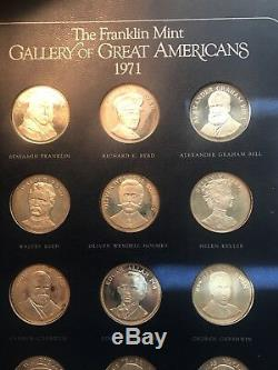 1970 & 1971 Franklin Mint Great Americans Sterling Silver Set First Edition