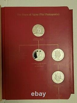 1970-74 Franklin Mint Kings and Queens of England 43 Sterling Silver Medals Set