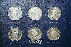 1970 Franklin Mint 36 Presidential Sterling Silver Commemorative Coin Set