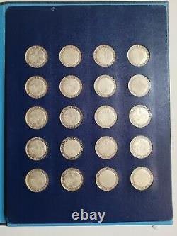 1970 Franklin Mint Project Apollo 20 Sterling Silver Medals 32 MM