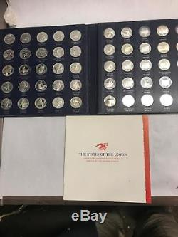 1970 Franklin Mint Sterling Silver STATES OF THE UNION Rounds FIRST EDITION