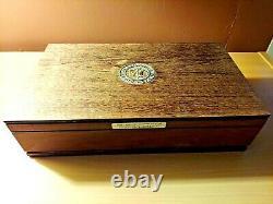 1970 Longines Symphonette Great American Triumphs 60 Coin Sterling Silver Set
