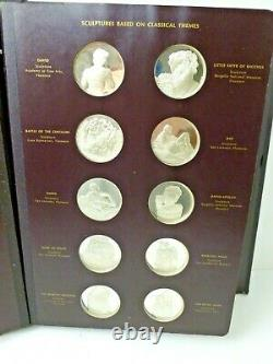 1970 Sterling Silver Franklin Mint The Genius Of Michelangelo Complete 60pc Book