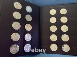 1970's Franklin Mint Genius of Michelangelo Sterling Silver Coin Set in Book