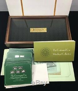 1970s FRANKLIN MINT STERLING SILVER CENTENNIAL CAR MINI INGOT COLLECTION with BOOK