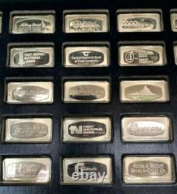 1971 Bank Marked Silver-Ingot 50 States Sterling Complete With Display Case