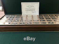 1971 Franklin Mint Bank Ingots Complete Set Sterling Silver