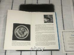 1971 Franklin Mint Sterling Silver Under The Mistletoe Norman Rockwell Plate