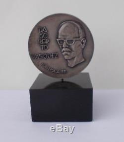 1971 MODERN DESIGN Franklin Mint Sterling Silver Medal VASQUEZ6.5 Troy Oz