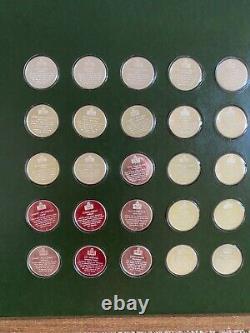 1972-74 Franklin Mint Pro Football Immortals Full Set 1-50 Sterling Silver