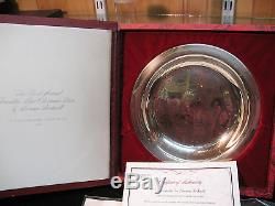 1972 8 Solid Sterling Silver Plate-franklin Mint