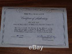 1972 Franklin Mint Proof Set Bankmarked Sterling Silver Ingots 50 States