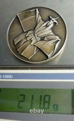 1972 Franklin Mint T. Matsuoka Japan Sterling Silver Medal 7 Troy Ounces