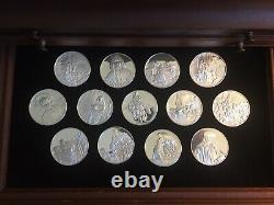 1972 Franklin Mint's Sterling Silver 50 medals, series The Genius of Rembrandt