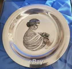 1972 Mother & Child Franklin Mint Solid Sterling Silver, Never Been Opened
