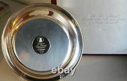1972 Norman Rockwell Sterling Silver The Carolers Christmas Plate Franklin MInt