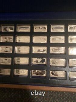 1972 Sterling Silver Bank Ingots Franklin Mint