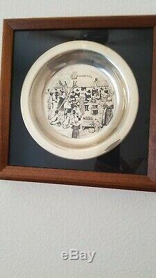 1972 The First Thanksgiving Sterling Silver Franklin Mint Plate