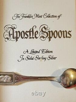 1973 Franklin Mint Apostles Sterling Silver Silver Spoons (13 pieces)