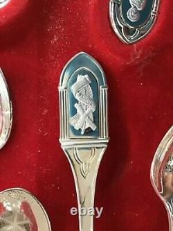 1973 Franklin Mint Apostles by Rodney Winfield Set of 13 Sterling Spoons E6569