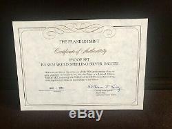 1973 Franklin Mint Bank Ingots Complete Set Sterling Silver