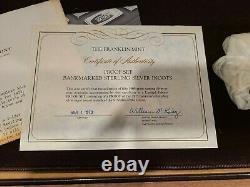1973 Franklin Mint Bank Marked 50 States Complete Set of Sterling Silver Ingots