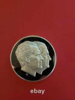 1973 Franklin Mint Nixon Agnew Inaugural Sterling Silver Medal 198 Gram