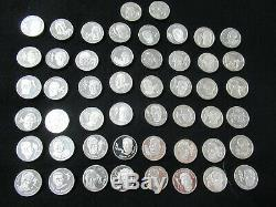 1973 Franklin Mint Pro Football Hall of Fame Immortals Sterling Silver Coin Set
