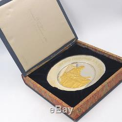 1973 JEFFERSON Bicentennial Commemorative STERLING SILVER Plate Franklin Mint