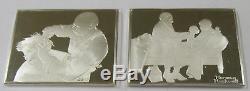 1973 Norman Rockwell's Sterling Silver Complete 10- Ingot Set by Franklin Mint