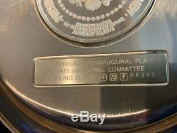 1973 Presidential Limited Edition Inaugural Sterling Silver Plate with case
