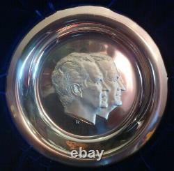 1973 Richard Nixon Agnew Official Inaugural Sterling Silver 7-3/4 Plate