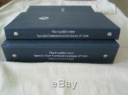 1974 FRANKLIN MINT STERLING SILVER PROOFS-SPECIAL COMMEMORATIVE ISSUES Set of 36