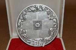 1974 Franklin Mint Sterling Silver Calendar / Art Medal 294g