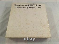 1974 John Adams Bicentennial Commemorative Plate Sterling Silver 24K Gold #5184