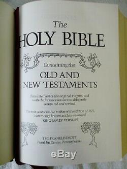 1974 MINT UNUSED Sterling Silver Franklin Mint Family Bible King James Version